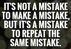 Creativity involves learning from mistakes